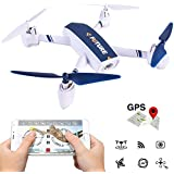 Amazingbuy WIFI APP Control FPV GPS Positioning Camera Drone, JXD 528 720P HD Camera 20 Waypoint Plan Flying RC Quadcopter Altitude Hold / One-key Taking Off / Landing (White)