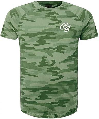 Crosshatch - Camiseta para Hombre, diseño de Camuflaje, Color Verde: Amazon.es: Ropa y accesorios