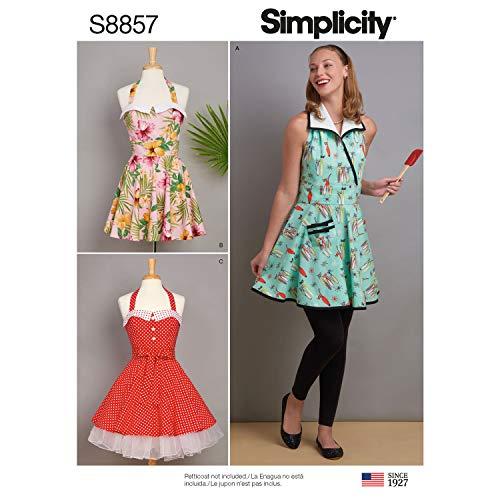 Pattern Misses Aprons (Simplicity US8857A Pattern S8857 Misses' Aprons, A (S-M-L))