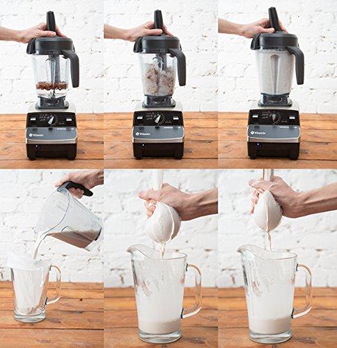 BOLSA DE LECHE VEGETAL - NECTARBAR (Eco) Raw Food Filter Bag - Algodón Natural - Embalaje: Inglés - Para leche de nueces, leche de almendras, leche de ...