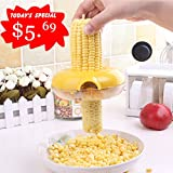 Corn Stripper,EverPlus Corn Cob Cutter Corn Peeler Cob Remover Corn Shucker Kitchen Cooking Tools with Hand Protector (02 Yellow)