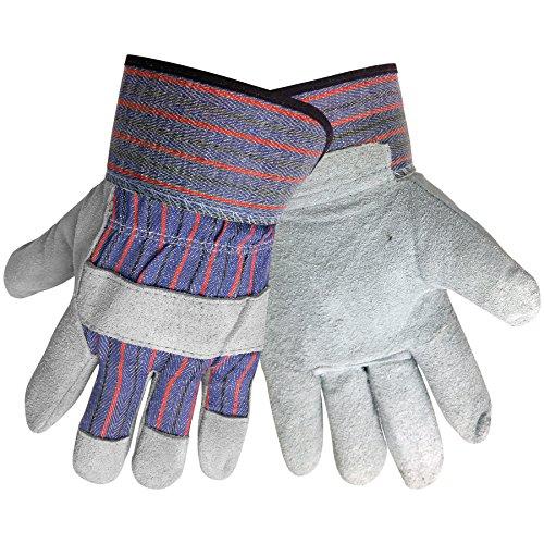 Global Glove 2300 Leather Gunn Cut Economy Grade Glove with Slip-on Cuff, Work, Extra-Large, Blue (Case of 72) - Economy Shoulder Split Work Gloves