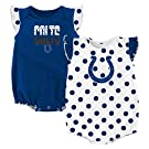 NFL Indianapolis Colts Creeper Set, 0-3 Months, Speed Blue