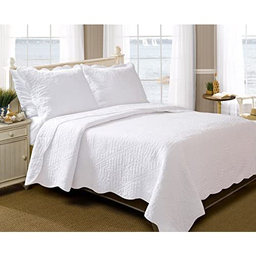 Discount Jolly White Shells 3-Piece Quilt Set - King for cheap