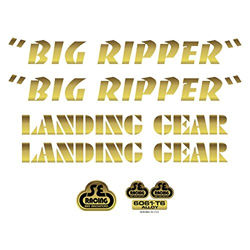 SE Bikes Big Ripper Decal Set null GOLD