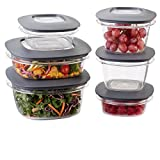 Rubbermaid 1951295 Premier Food Storage Containers, 12-Piece Set