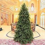 XIAOMEI De Lujo Artificial Árbol de Navidad Pino Alto Grado Pierna del Metal PVC On Montaje fácil Cifrado Interiores Aire Libre con bisagras(Green)-B 180cm(71inch)