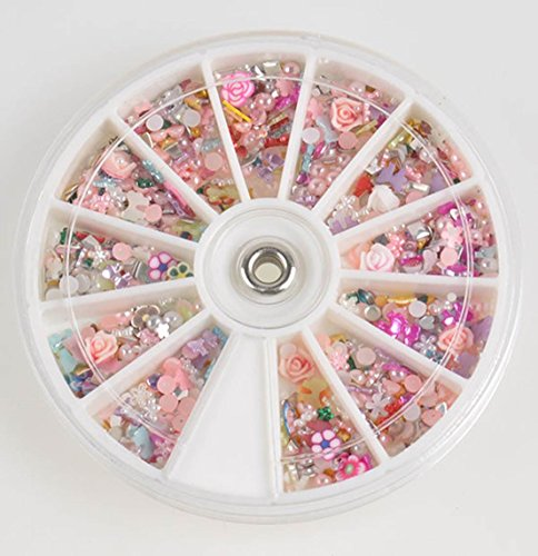 Glitters Rhinestones Slice Wheel Nail Art Decoration Manicure 1200pcs Random Mixed - Justice Fake Glasses