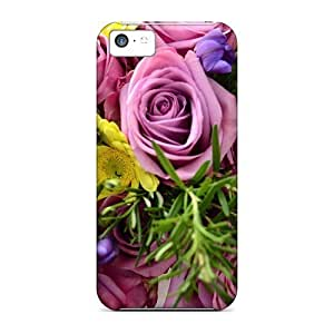 Fashionable Style Cases Covers Skin For Iphone 5c- Cute Bouquet