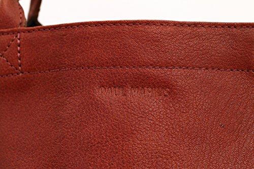 MON PARTENAIRE BRUN tamaño L bolso de mano de cuero bolso de estilo vintage marrón medio PAUL MARIUS