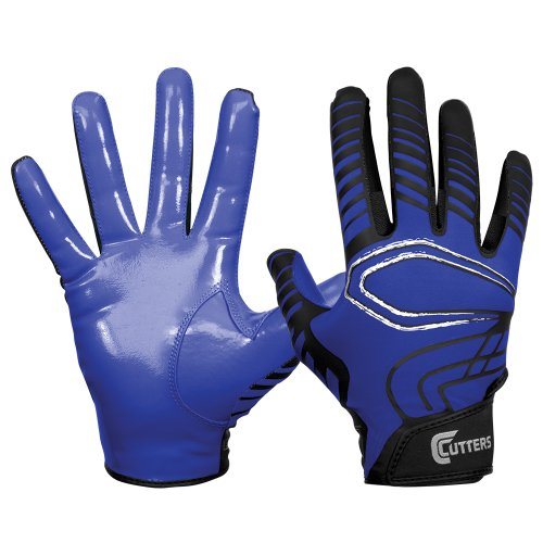 Cutters Gloves REV Receiver Glove (Pair), Royal, Large ()