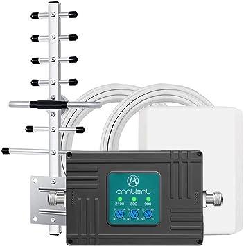 ANNTLENT Amplificador gsm 3G 4G Tri-Banda Repetidor gsm 800/900/2100MHz Amplificador Señal Movil para el Hogar/Oficina Compatible con Movistar/Orange/Yoigo/Vodafone: Amazon.es: Electrónica