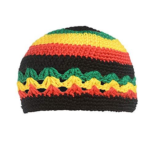 Beanie Hat Rasta Reggae Dreadlock Braid Knitted Gorros Bob Beret Hat Colorful Striped Cappello Hip hop Caps