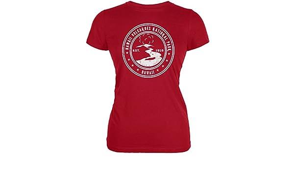 Hawaii Volcanoes National Park Red Juniors Soft T-Shirt