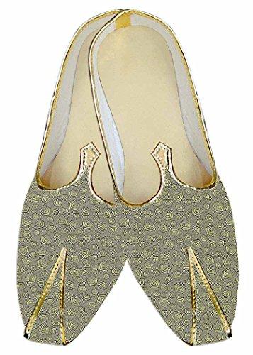 INMONARCH Herren Hellgrün Hochzeit Schuhe diHerrenionale Muster MJ015279