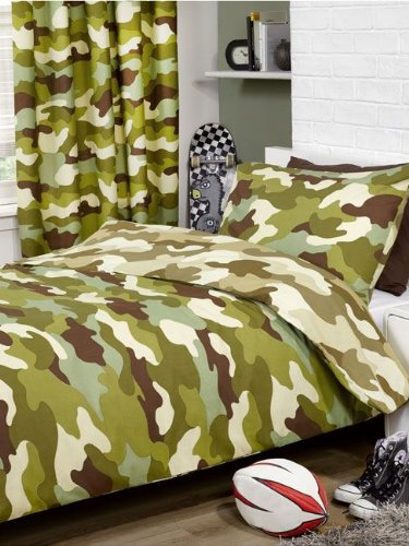 PRH Army Camouflage Reversible Single Duvet and Pillowcase Set Price Right Home