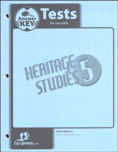 Heritage Studies 5 Tests - Heritage Studies Grade 5 Test Answer Key 3rd Edition