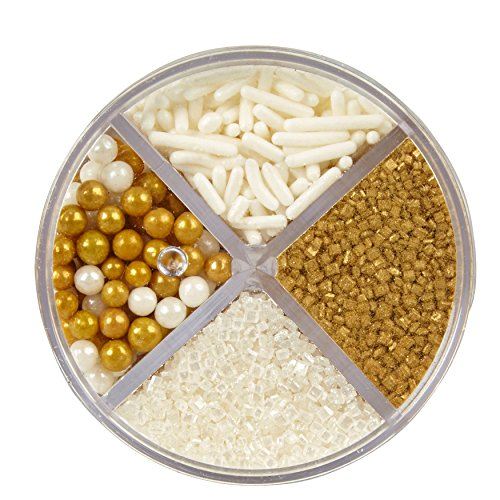 - Wilton Pearlized Gold Sprinkles, 3.8 oz. Edible Gold Glitter