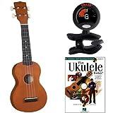 Diamond Head DU-150 Mahogany Soprano Ukulele Bundle With Snark SN6 Clip-On Tuner And Play Ukulele Today Instruction Book