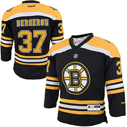 fan products of Patrice Bergeron Boston Bruins Black Yellow Toddler Reebok Home Replica Jersey