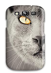 ChrisWilliamRoberson Snap On Hard Case Cover Amazing Cat Wallpaper Protector For Galaxy S3