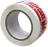 Absolute USA Printed Message Handle with Care Box Sealing Tape (TAPERED)