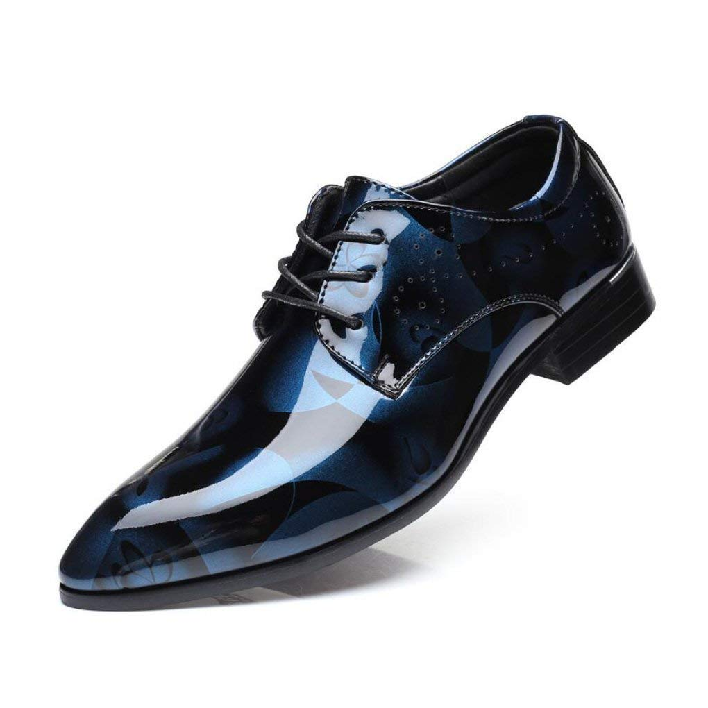 HhGold Herrenschuhe Lederschuhe Spitze Zehenschuhe Frühlings- Herbst Komfort-Formale Schuhe Party & Abend Gedruckt,A,41 (Farbe   Wie Gezeigt Größe   Einheitsgröße)