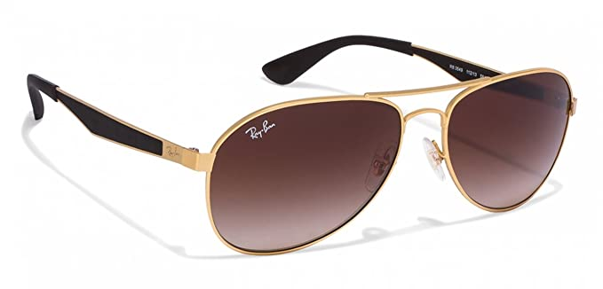 5f7b506b8c5 Amazon.com  Ray-Ban RB3549 Mens Gold Metal Sunglasses. Color 112 13 ...