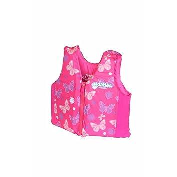 Niños nadar chaleco natación piscina flotadores, flotación chaleco para bebés y niños por Floaties, color rosa, tamaño large: Amazon.es: Juguetes y juegos
