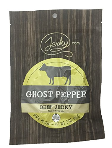 Ghost Pepper All Natural Best Hot Beef Jerky - Try Our Best Tasting Hot Beef Jerky - No Added Preservatives, No Added MSG or Nitrates, Farm Raised Beef - 3 oz.