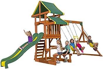 Backyard Discovery Tucson Cedar Wooden Swing Set