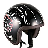 Jet-02 3/4 Shell Cruiser Open Face Helmet (Black-Knuckle Head Decal)