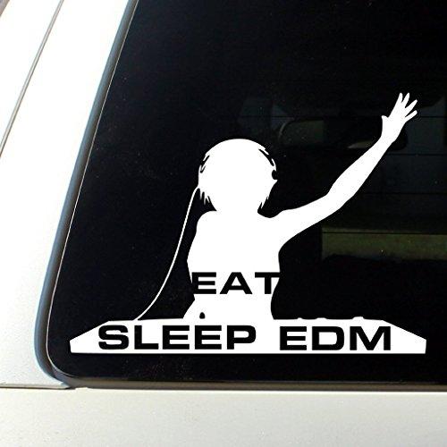 CCI084 - Eat Sleep EDM Decal | White |7 x 5 In