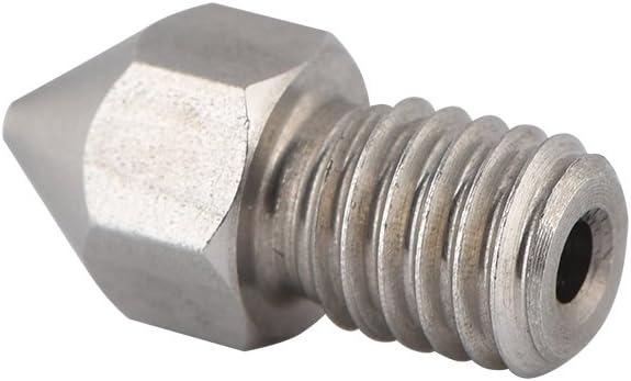 Stainless Steel Print Nozzle Head Attachment Durable 3D Printer Accessories 0.2mm//0.4mm//0.5mm//0.6mm//0.8mm Mavis Laven 5 Pcs M6 3D Printer Extruder Nozzles