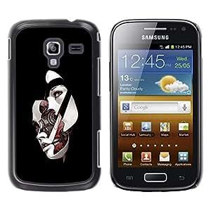 Be Good Phone Accessory // Dura Cáscara cubierta Protectora Caso Carcasa Funda de Protección para Samsung Galaxy Ace 2 I8160 Ace II X S7560M // Sci Fi Abstract Womans Face