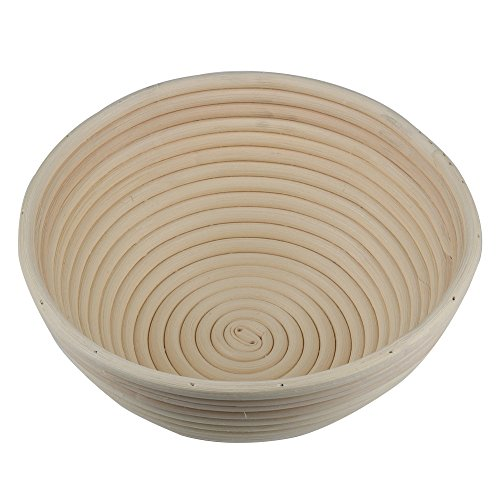 Gimiton Banneton Proofing Basket 9 Inch Round Brotform Banneton Bread Proofing Rattan Basket Perfect For Homemade Artisan Bread Professional & Home Bakers