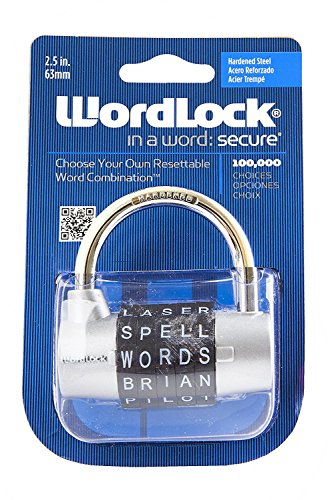 Wordlock PL-003-SL 5-Dial Combination Padlock, Silver 2pack by World and Main-Exclusives