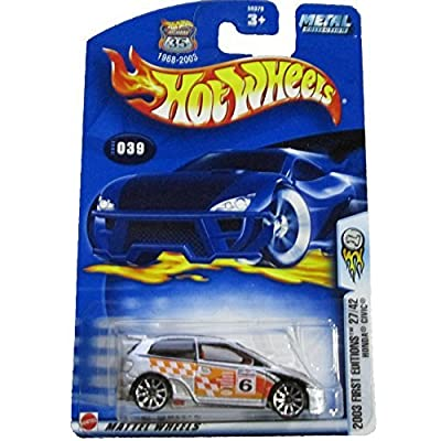 Hot Wheels 2003-039 First Editions #27 Honda Civic HIGHWAY 35 Card 1:64 Scale: Toys & Games [5Bkhe1106949]