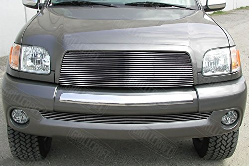 GrillCraft TOY1963-BAC BG Series Polished Aluminum Lower 1pc Billet Grill Grille Insert for Toyota - Toyota Grille Tundra Grillcraft