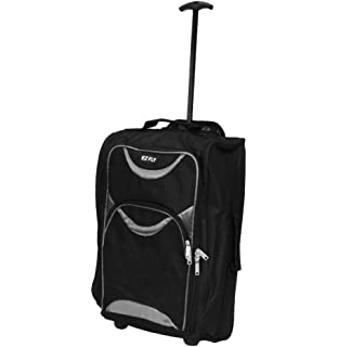 87e6767d1 LIGHTWEIGHT WHEELED HAND LUGGAGE TROLLEY SUITCASE - SMALL FLIGHT CABIN BAG  (Grey)