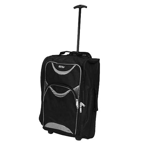 e320f1bca LIGHTWEIGHT WHEELED HAND LUGGAGE TROLLEY SUITCASE - SMALL FLIGHT CABIN BAG  (Grey): Amazon.co.uk: Luggage