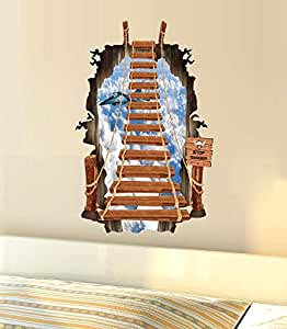 Fashion 3D sky pattern Wall stickers home decor room decoration