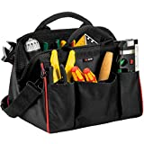 NoCry Tough As Nails Tool Bag, 12 Inches, Heavy-Duty 600D Canvas, Rubber Feet, Black