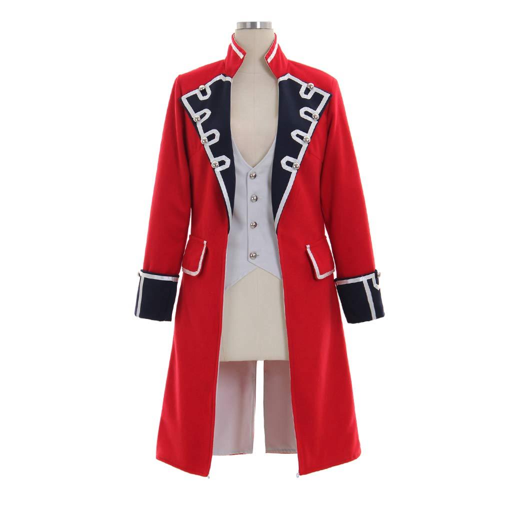 Women's Pirate Captain Red British Pivateer Costume Vest Coat - DeluxeAdultCostumes.com