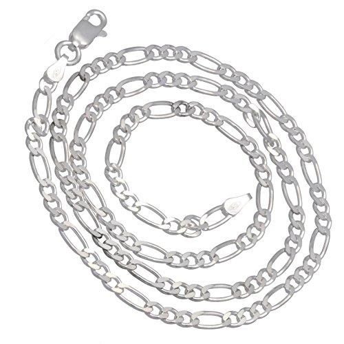 Diamond-Cut 4mm Wide Sterling Silver 16