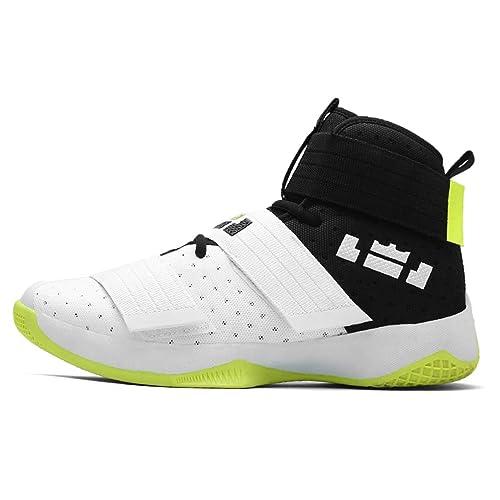 Hombres Zapatillas Deportivas Profesionales de Baloncesto Zapatos de Aire Transpirable Zoom cojín de Gancho de Bucle de Zapatos de Hombre: Amazon.es: ...