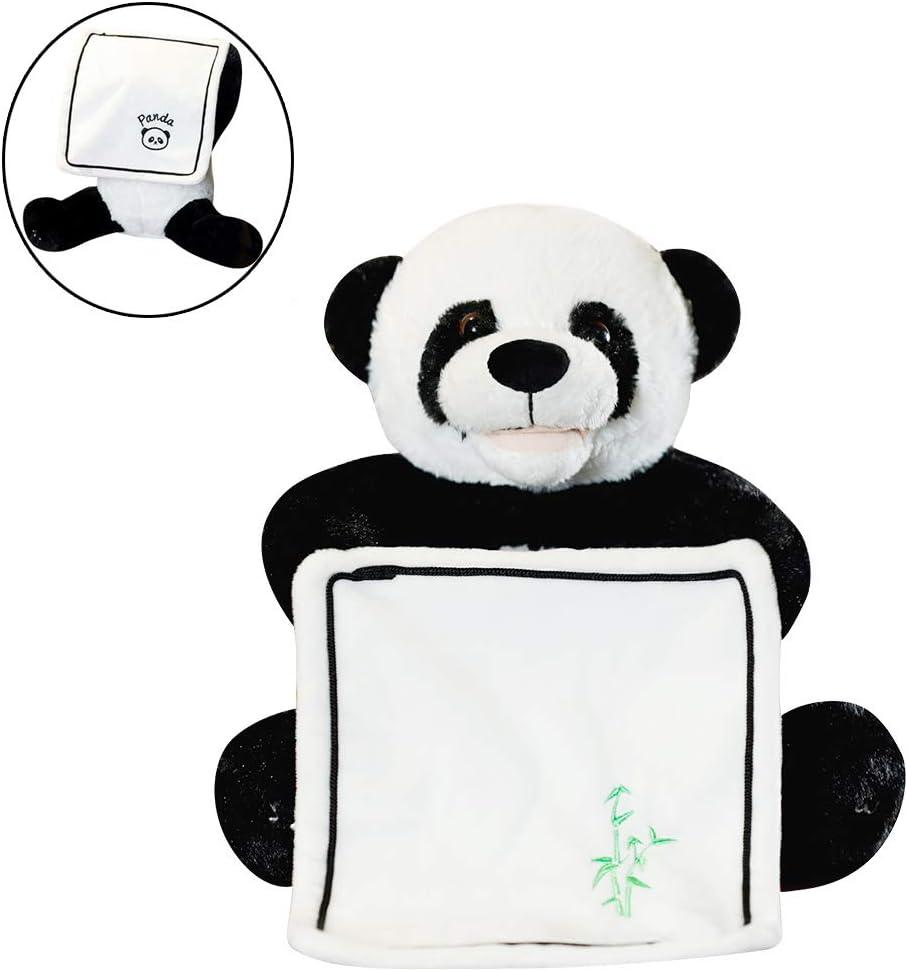 Uni-Wert Peek-A-Boo Panda de Peluche Juguete Interactivo Canciones de Canto Música Felpa Panda Animal de Peluche Panda Juguete Eléctrico para muñecas para Bebé / Niños