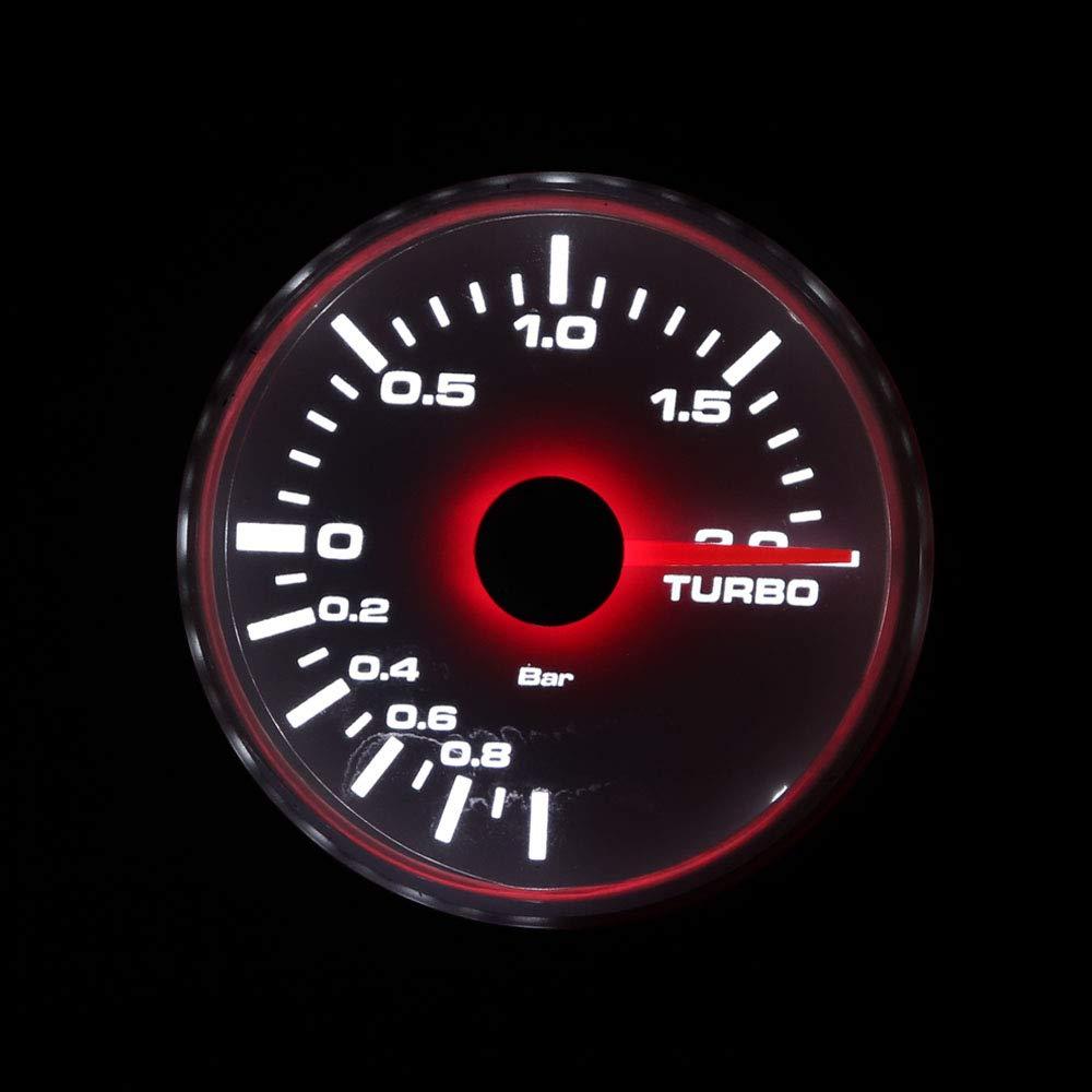 LTD 2 inch 52mm Electronic Boost Gauge kit aftermarket Gas Turbo Black Dial Chrome Bezel White Amber LED backlit Waterproof includes sensor PSI I GAUGE TECHNOLOGY CO
