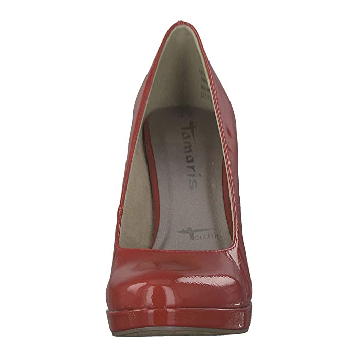 Tamaris Damen Pumps Lycoris 22426 Chili patent (rot): Amazon