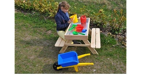 Mesa de picnic para niños con arenero: Amazon.es: Jardín